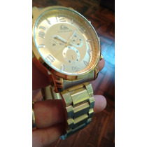 Relógio Quikisilver Todo Dourado