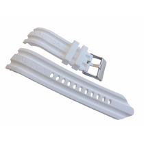 Pulseira Borracha Nautica Bfd100 24mm A15583g Branco