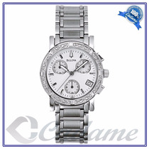 Bulova Marine Star 16 Diamonds 96r19 Na Caixa