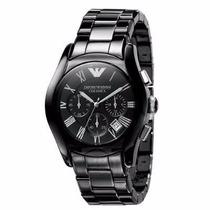 Relógio Emporio Armani Ar1400 Ceramica Preto Com Garantia*