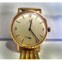 Relógio Omega A Corda Manual De Ouro 18k Pulseira Em Ouro