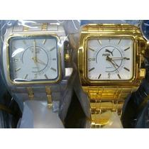 Kit 10 Relógio Pulso Masculino Prata/dourado Atacado/revenda
