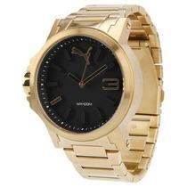 Relógio Puma Ultrasize Dourado Grande Lindo Relogio.