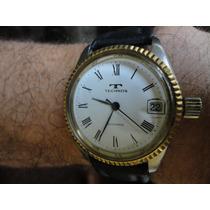Relógio De Pulso Thecnos Automatico Todo Original Perfeito