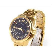 Relógio Citizen Jn5002-50e Promaster Fundo Preto - Dourado