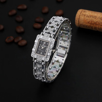 Relogios Feminino Quartzo Bracelete/pulseira Preto/prata