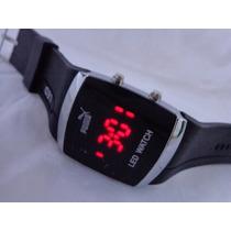 Lindo Relógio Led Watch Preto Masculino No Leilão De 1,00