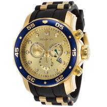 Relógio Invicta Pro Diver Modelo 17881 Gold Banhado Ouro 18k