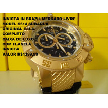 Relógio Invicta 5514 Subaqua - Banhado Ouro 18 K