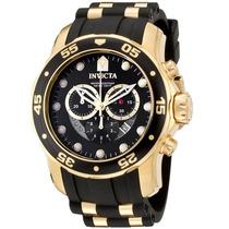 Relógio Invicta Chronograph Banhado Ouro 18k - Frete Grátis