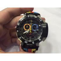 Relógio T-race Colorido Tissot Gp Original Colombia 12x S /j