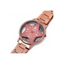 Relógio De Pulso Metal Feminino Cobre Ouro Dourado Rosê