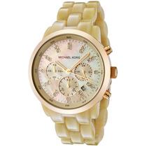 Relógio Michael Kors Mk5217 Madreperola Dourado Original Eua