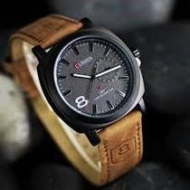 Relógio Casual Curren Masculino Pulseira De Couro Original
