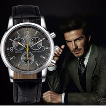 Relógio Casual Masculino Luxury Shshd Pulseira De Couro