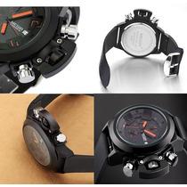Relógio C/ Cronógrafo/cronômetro/data/analógico Veja O Vidio