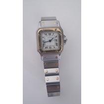 Relógio Cartier Santos Galbée Feminino Ouro E Aço Original