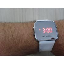 Relógio Led Digital Espelhado Esportivo Unisex Várias Cores
