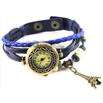 Relógio De Couro Feminino Vintage Estilo Bracelete Retro