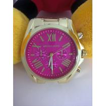 Relógio Michael Kors Luxo Dourado M K Romano - Importado
