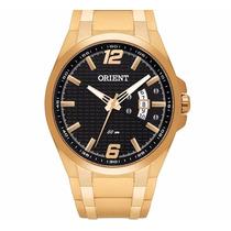 Relógio Orient Dourado Fundo Preto Sport Mgss1089 P2kx