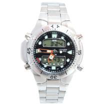 Relógio Masculino Citzem Aqualand Aço Prata E Preto Jp1060