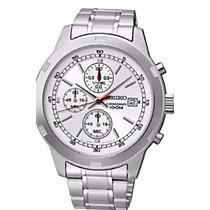 Relógio Seiko Masculino Cronógrafo Aço Inox Hardlex 4t57ac--