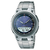 Relogio Casio Aw 80 Azul Aço 3 Alarm 50metros Aw80 Aw 82 81