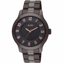 Relógio Euro Alcazár Marrom Chocolate Aço Eu2035lv/4m 3atm