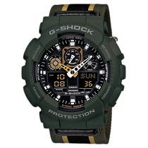Casio G-shock Ga-100mc 3adr Serie Militar Verde