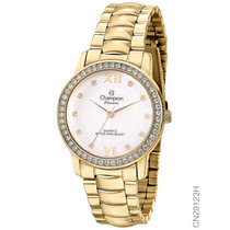 Relógio Feminino Dourado Champion Original Barato Cn29123h