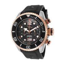 Vip Time Magnum Chronograph Preto Borracha E Dial Men