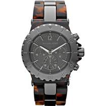 Relógio De Luxo Michael Kors Mk5501 Chron Anal Tortoise Brow