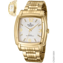 Relógio Feminino Dourado Champion Cn29196h Original