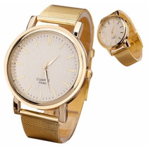 Relógio Moderno Ouro Golden - Unissex - Masculino - Feminino