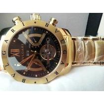 Relógio Bulgari Automático Dourado (12x S/ Juros)