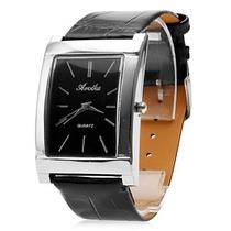 Relógio Quartz Original Importado Pulseira Em Couro Pu