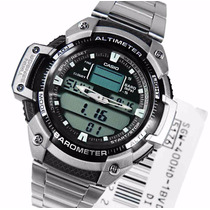 Casio Outgear Sgw 400 Hd Altimetro Barometro - Pulseira Aço