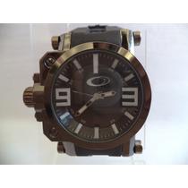Relógio Masculino Estilo Oakley Com Visor Safira - Preto