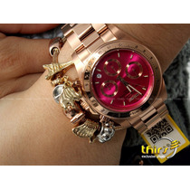 Invicta Feminino Speedway Orig 16657 - Banh Ouro Rose - Pink