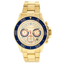 Relógio Michael Kors Mk5792 Dourado Azul Lindo Frete Grátis