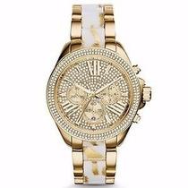 Relógio Michael Kors Branco E Ouro Original Garantia Mk6157