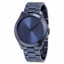 Relógio Michael Kors Mk3419 Azul Original Lindo Frete Grátis