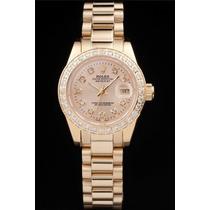 Relogio Rolex Original De Ouro 18k Com Diamantes