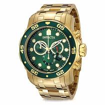 Relógio Invicta Pro Diver 0075 - Banhado À Ouro 18k Original
