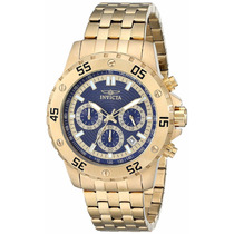 Relógio Invicta 17453 Dourado Cronograf Original Garantia