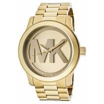Relogio Michael Kors Mk 5473 Dourado Logo Original 12xsjuros
