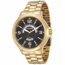 Relógio Mondaine 78645gpmvda1 Dourado Fundo Preto