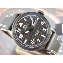 Relógio Orient Automatico Pilot Preto Pvd Masculino