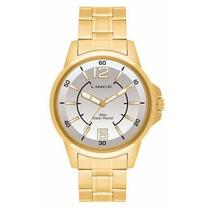 Relógio Lince Orient Dourado Masculino Mrg4040s Frete Grátis